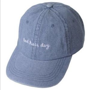 Accessories - DENIM WASHED COTTON STAP BACK BASEBALL CAP